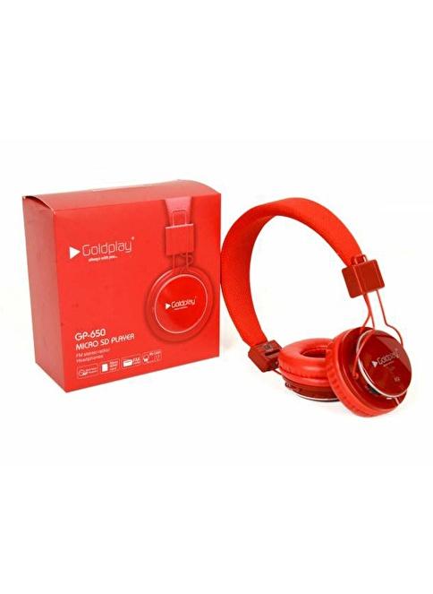 Goldplay GP-650 Radyolu MP3 Çalarlı Kulaklık Kırmızı